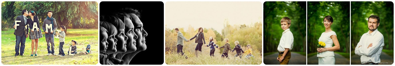 Семейная фотосессия в ряд
