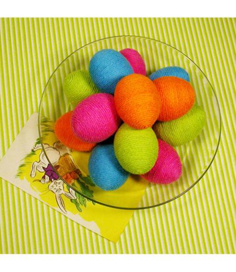 Оздоблення великодніх яєць. Нитки