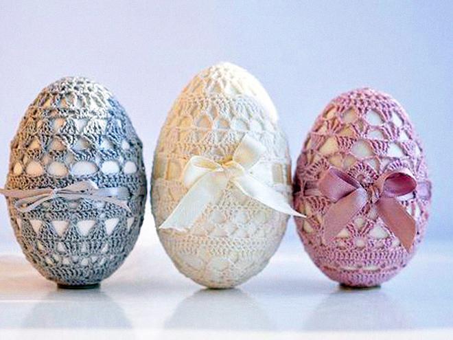 Вязаная одежда для пасхальных яиц