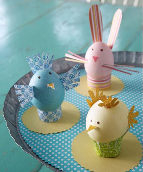 Украшение пасхальных яиц. Зверюшки
