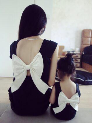 одинаковые платья мама и дочка