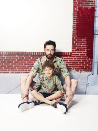 одинаковая одежда для папы и сына