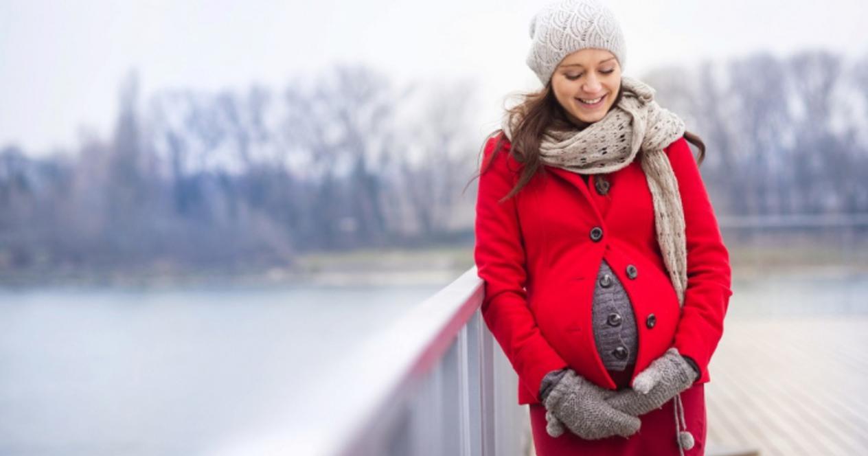фотосессия для беременных зимой
