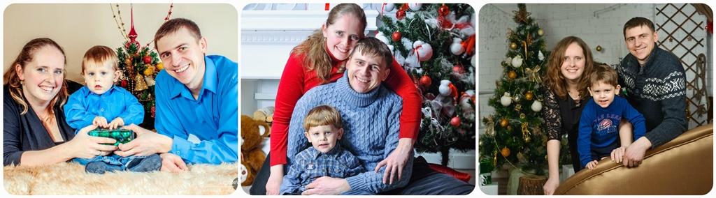 Сімейна новорічна фотосесія