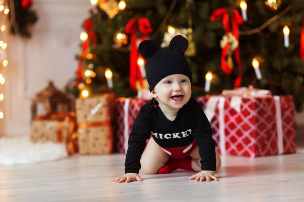 Сімейна новорічна фотосесія вдома