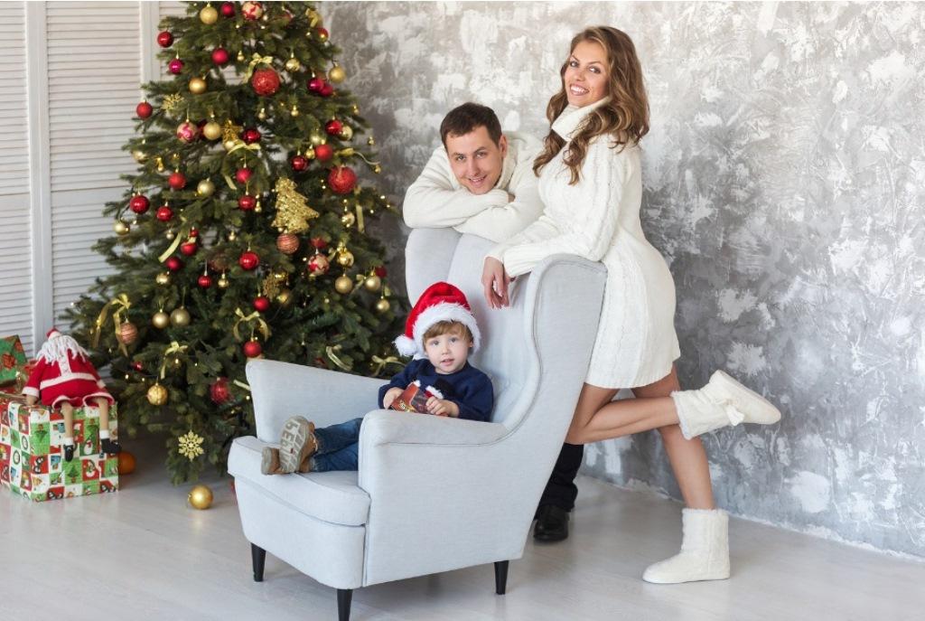 Семейная новогодняя фотосессия идеи