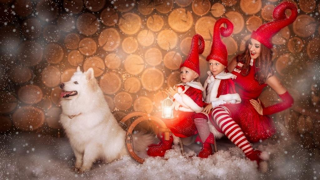 оригінальна Сімейна новорічна фотосесія