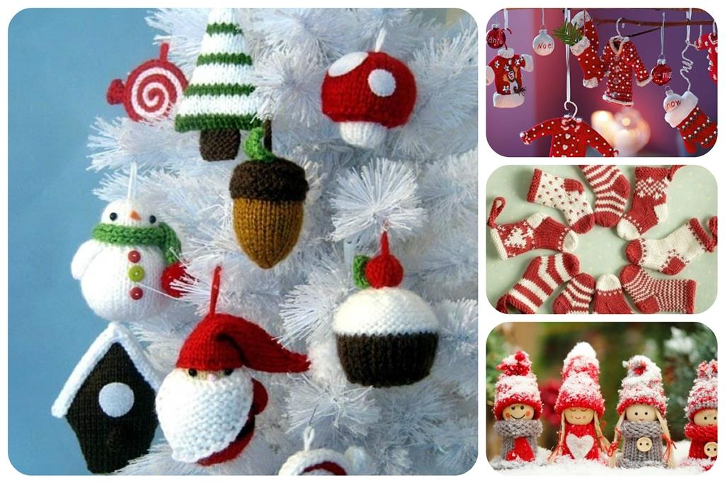 вязаные новогодние игрушки на елку своими руками
