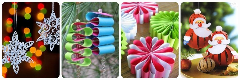 новорічні іграшки на ялинку з паперу своїми руками
