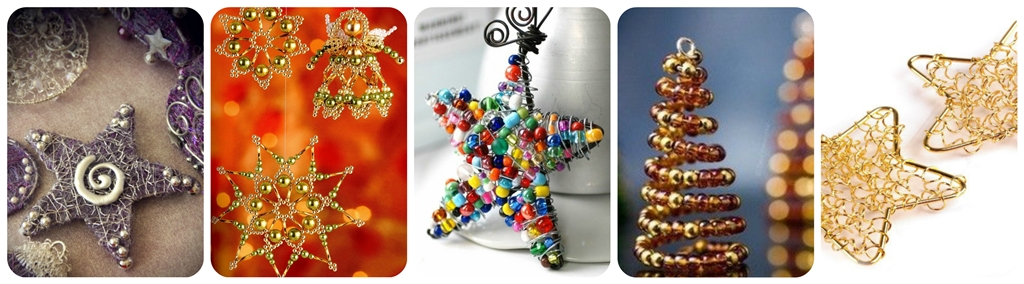 новорічні іграшки на ялинку з дроту своїми руками