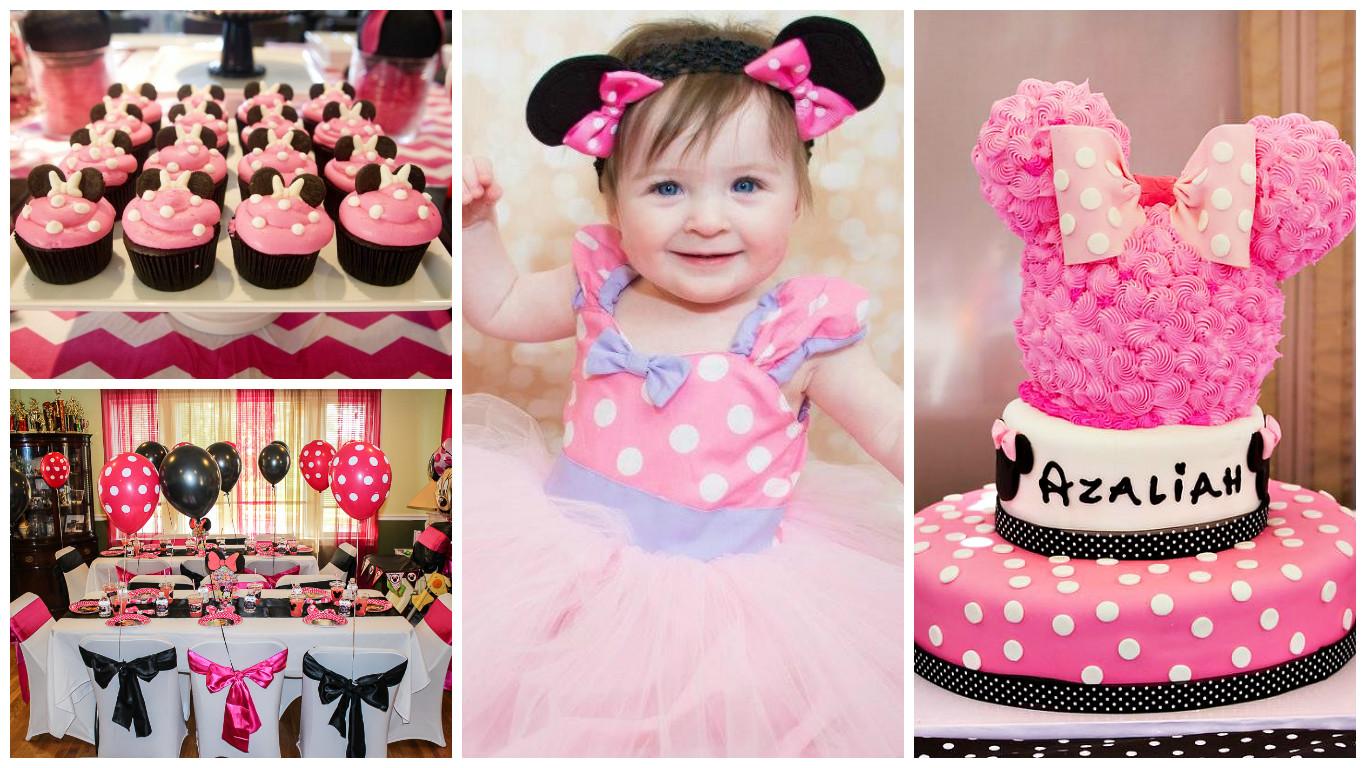 Дитячий день народження дівчинки в стилі мінні маус