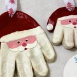 Ідеї в скарбничку. Сувеніри на Новий рік своїми руками - відбиток руки в вигляді ялинкової прикраси Санти.