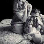 Семейная фотосессия - 12 интересных идей. Чорно-белое семейное фото