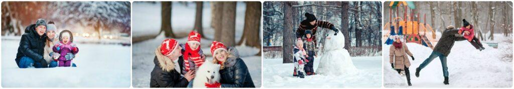 Идеи для зимней фотосессии семьи