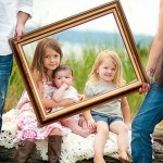 Сімейна фотосесія - 12 цікавих ідей. Фотосесія с рамочками