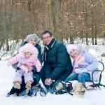 Сімейна фотосесія - 12 цікавих ідей. Зимова сімейна фотосесія