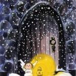 Вінтажні різдвяні листівки. Ангели