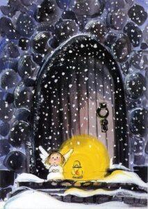 Винтажные рождественские открытки. Ангелы