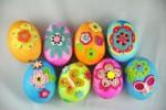 Украшение пасхальных яиц. Фетр