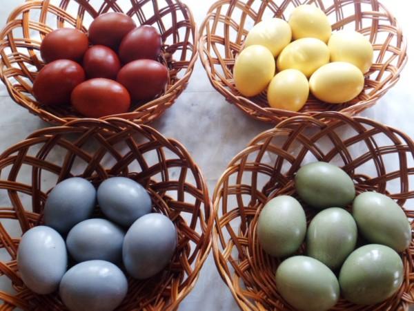Природные красители для пасхальных яиц