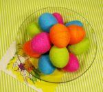 Украшение пасхальных яиц. Нитки