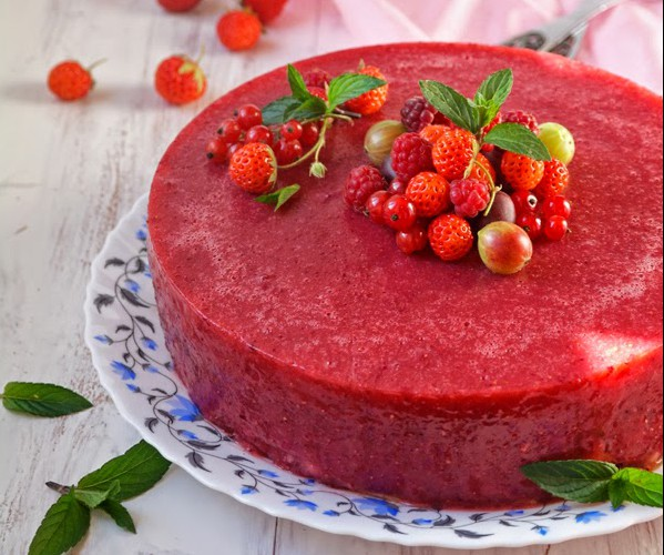 Десерты из клубники для детей  Мармелад из клубники с мятой
