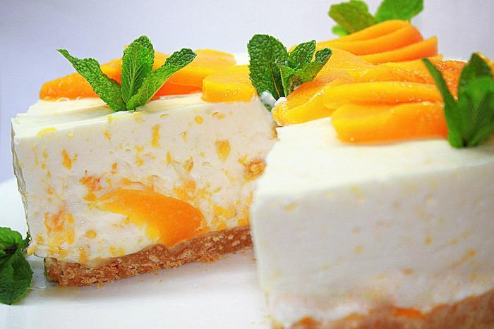 десерт з персиків для дітей