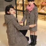 одинаковая одежда фотосессия мама и дочка