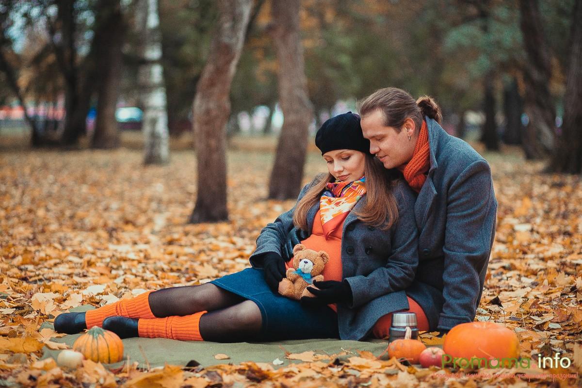 фотосессия для беременных осенью