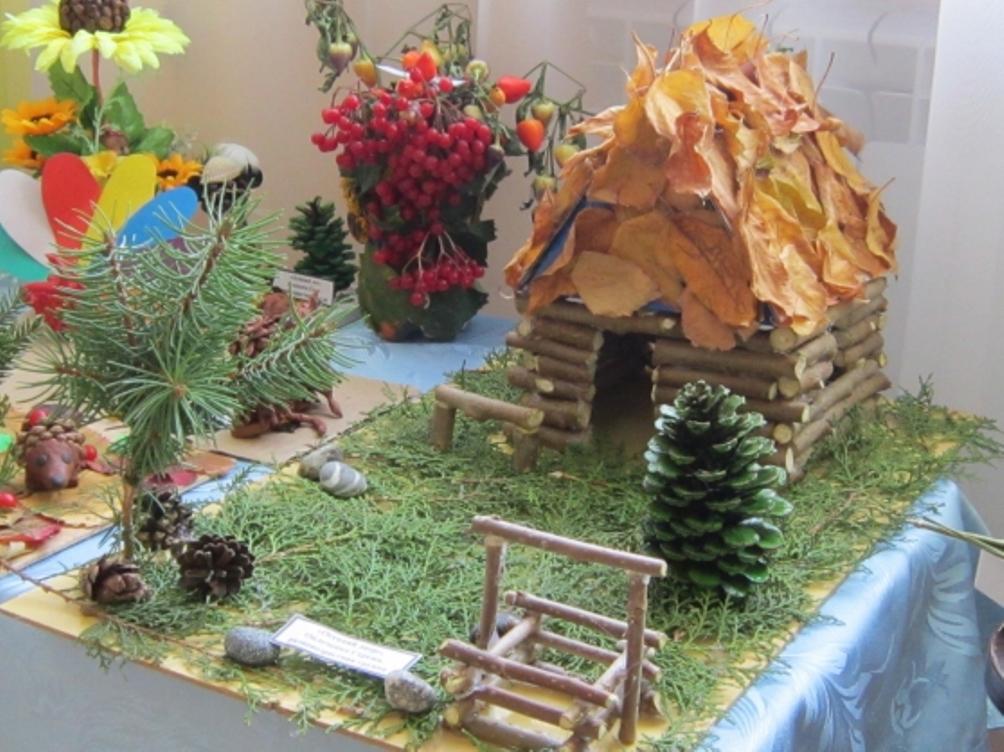 Поделки на осеннюю тему для детского сада из природного материала 55