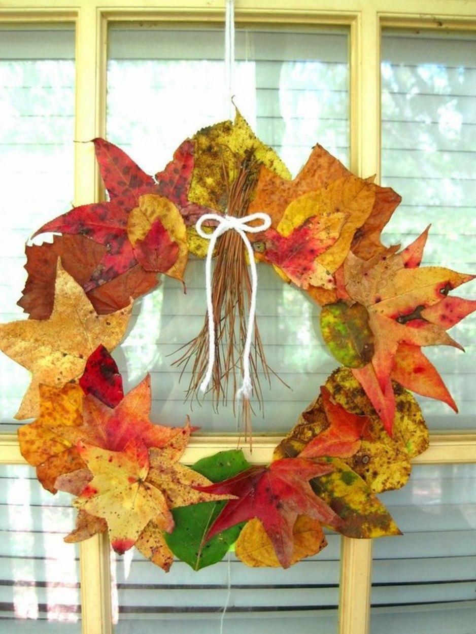 осенние поделки с листьев