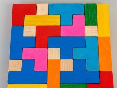 деревянный конструктор тетрис