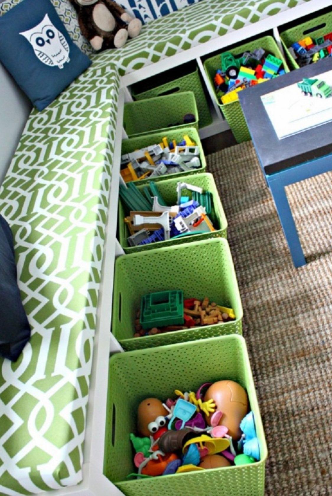 Система хранения вещей для детской своими руками 19