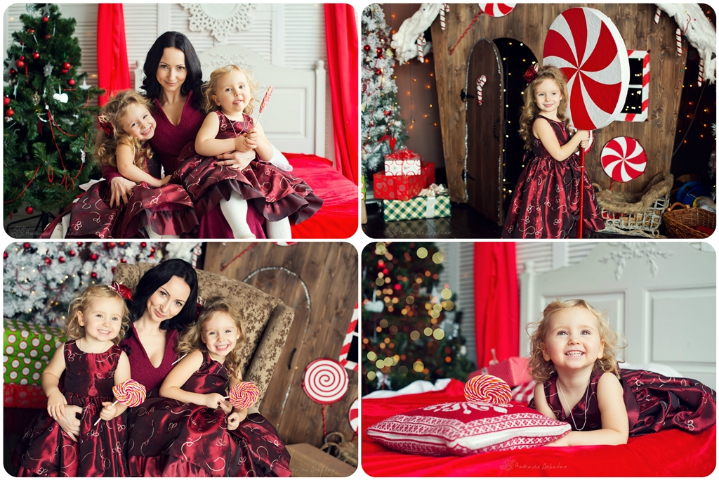 Семейные новогодние фотосессии с детьми