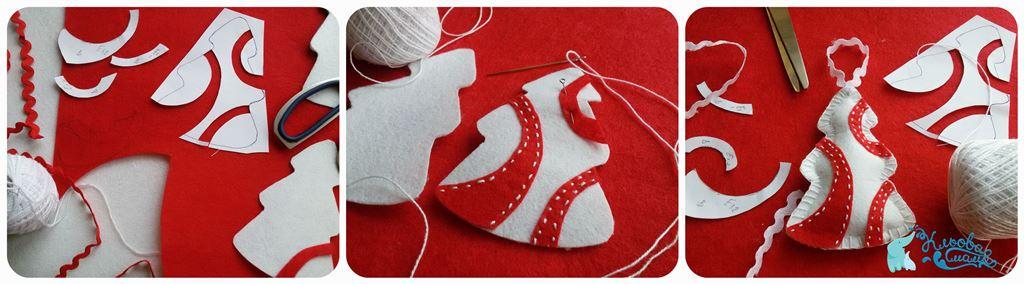 як пошити новорічні іграшки на ялинку з фетру