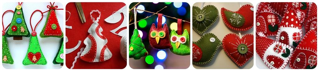 новорічні іграшки на ялинку з фетру своїми руками
